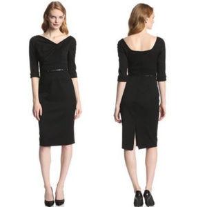 Black Halo Women's 3/4 Sleeve Jackie O Dress SZ 16